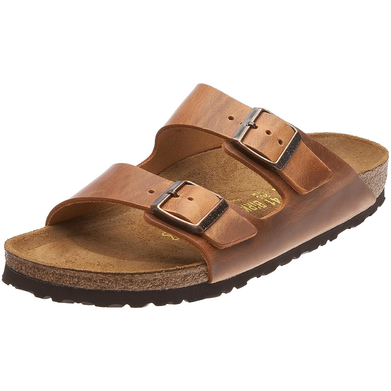 Birkenstock Arizona, Zapatos con Hebilla Unisex Adulto 35 EU (Estrecho)|Marrón (Antik Brown)