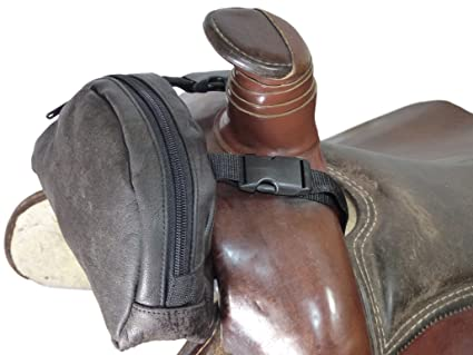 4624ab47d0b Thor Equine Pommel Pocket Sillín de piel Western Pack Funda Marrón ...
