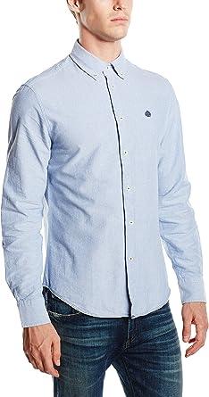 Springfield Oxford Plain Color Camisa, Blues, S para Hombre ...