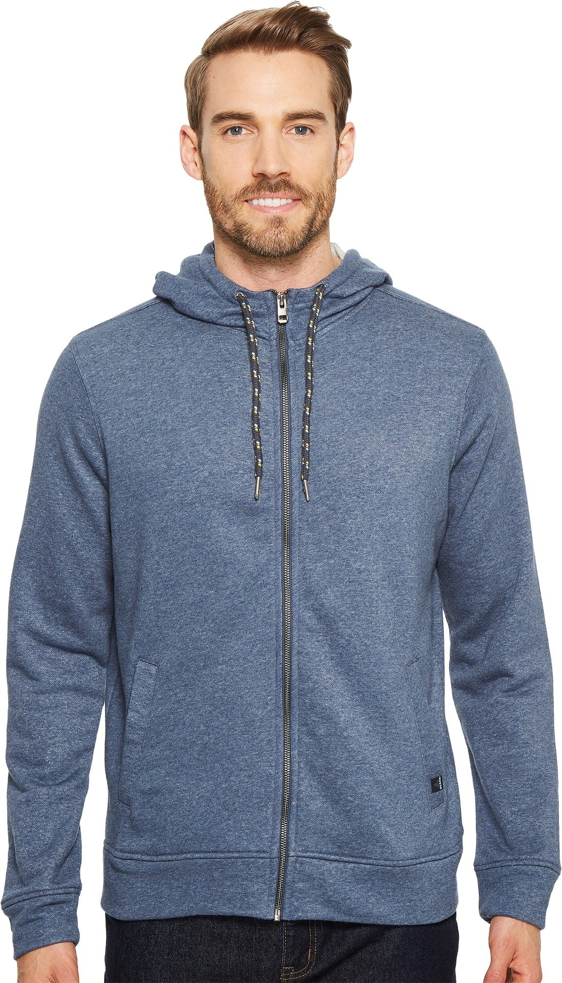 prAna Asbury Full Zip Hood, Equinox Blue Heather, Large