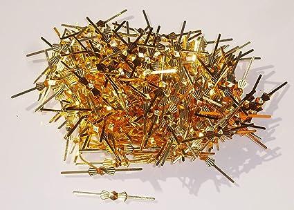 250 pajaritas de cierre de latón envejecido cromado con aspecto metálico para lámpara de araña, para hacer cadenas de guirnaldas, para cristales de ...