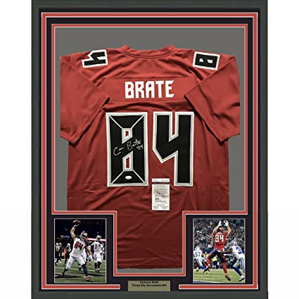 best website b9d68 00583 Framed Autographed/Signed Cameron Brate 33x42 Tampa Bay ...