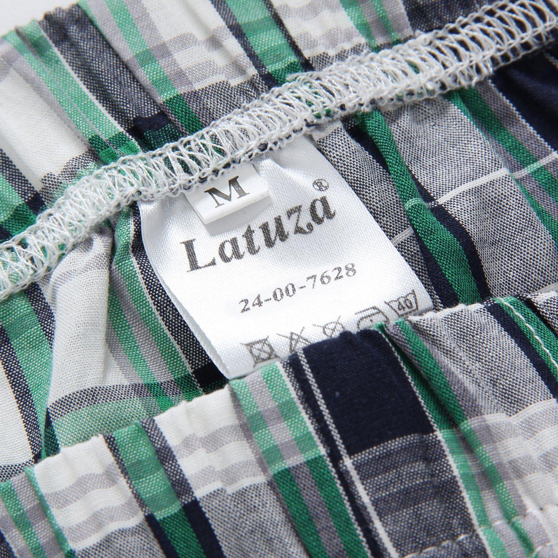 Latuza Mens Cotton Woven Short Sleepwear Pajama Set
