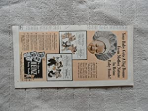 Heinz Baby Food, authentic 1952 print ad.(mother nature)Original Vintage March 20,1952 Woman's Day Magazine Color Illustration
