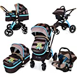i-Safe System - i DiD iT Trio Travel System Pram & Luxury Stroller 3 in 1 Complete With Car Seat