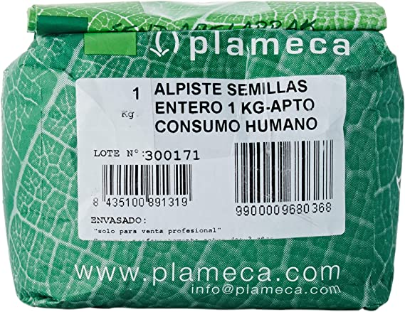 Plameca Alpiste Semillas Entero 1 Kg: Amazon.es: Salud y cuidado ...