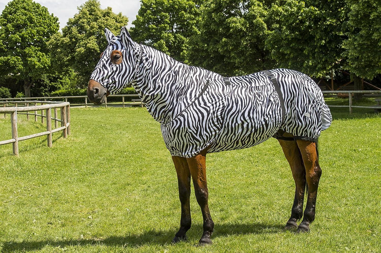 Black White Zebra Design 6 ft 183 cm Black White Zebra Design 6 ft 183 cm Equi-Theme Equit'M Unisex's 400114260 Sweet-Itch Sheet, Black White Zebra Design, 6 ft 183 cm