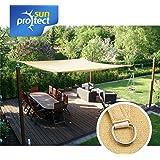 sunprotect Sonnensegel professional, 3,5 x 4,5 m, Rechteck, beige (1 Stück)