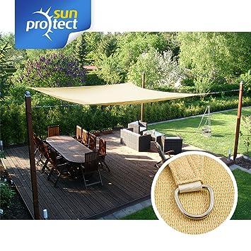 sunprotect 83216 professional toldo vela de sombra 35 x 45 m rectangular - Toldo Vela Rectangular