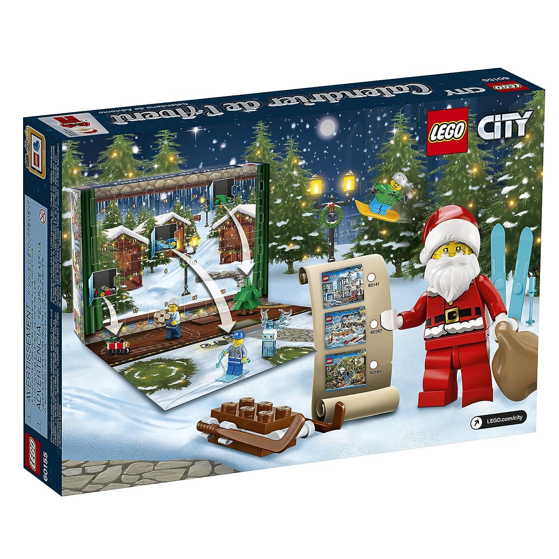 Amazon.com: LEGO 6174567 City Advent Calendar 60155 Building Kit: Toys &  Games