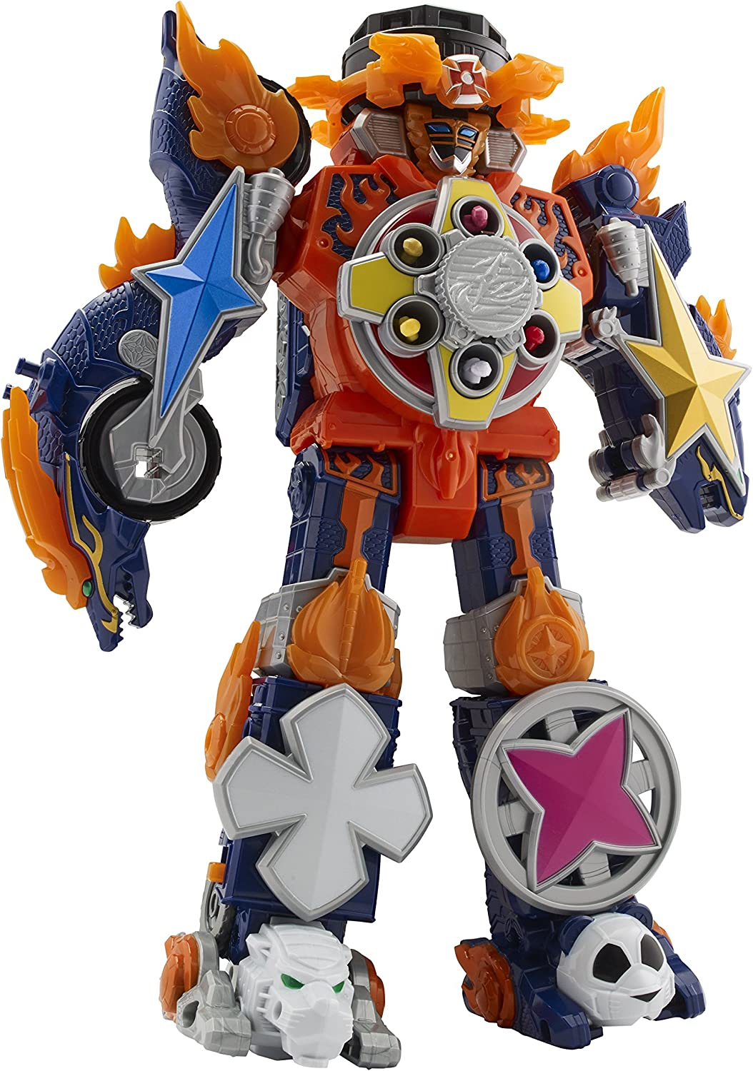 Power Rangers 43740 Super Ninja Steel Blaze Megazord, Multi-Colour