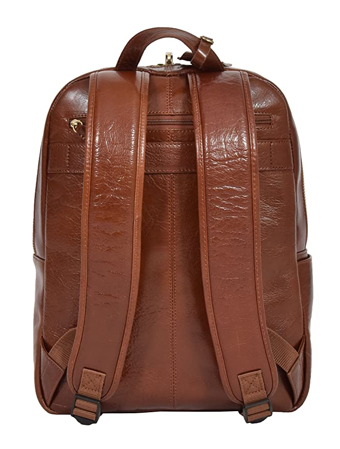 Amazon.com | Womens Real Leather Backpack Lightweight Travel Rucksack Peru Chestnut | Casual Daypacks
