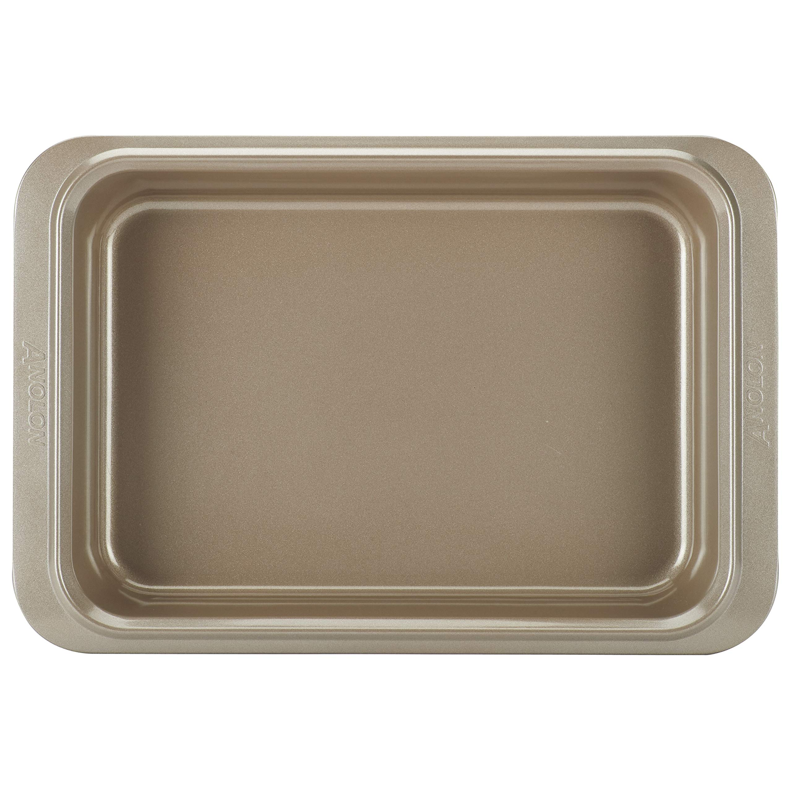 Anolon Eminence Nonstick Bakeware 9-Inch x 13-Inch Rectangular Cake Pan, Onyx with Umber Interior by Anolon (Image #1)
