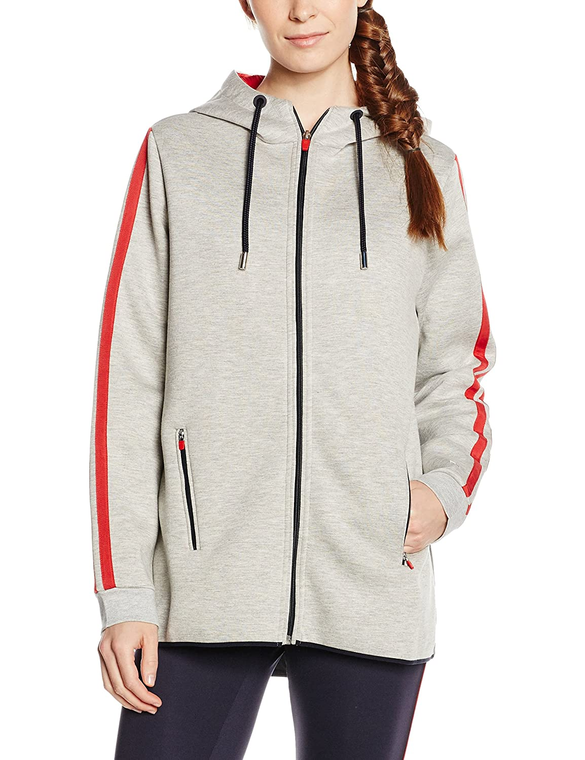 Tommy Hilfiger Damen Kapuzenpullover Th Athletic Long Hoodie