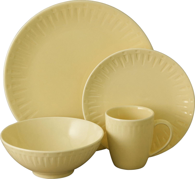 Amazon.com | Sango 16 Piece Contempo Dinnerware Set Cream Dinnerware Sets  sc 1 st  Amazon.com & Amazon.com | Sango 16 Piece Contempo Dinnerware Set Cream ...