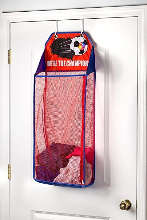 Over The Door Hanging Kids Fun LED Soccer Light-Up Collapsible Mesh Laundry H&er & Amazon.com: Over The Door Hanging Kids Fun LED Soccer Light-Up ...