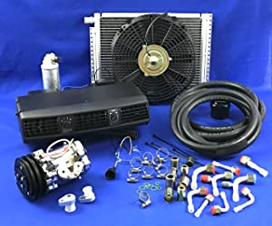 A/C KIT Universal Under Dash Evaporator Compressor KIT AIR Conditioner 202-1 12V W / 7B10 Compressor