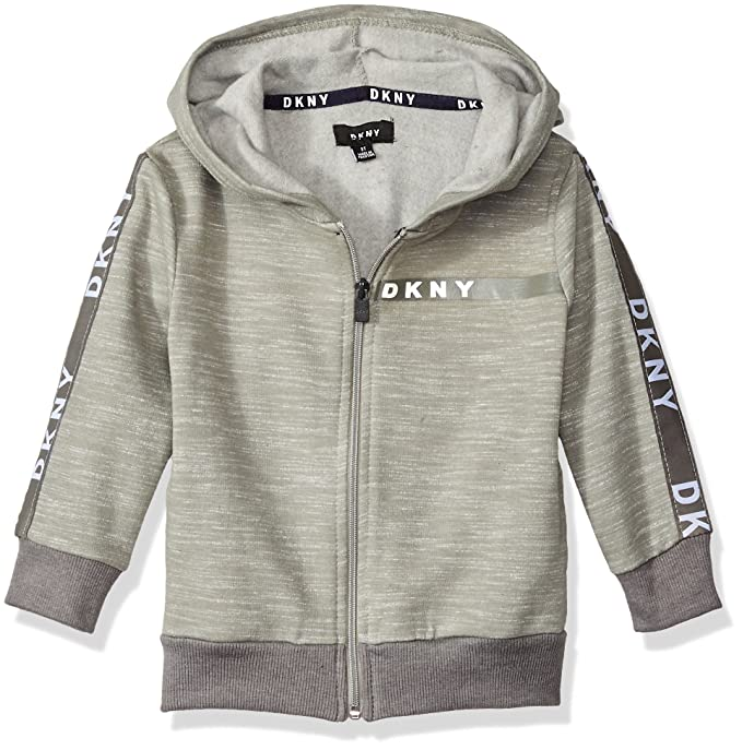 Amazon.com: DKNY Boys Long Sleeve Zip Front Heather Fleece Hoody: Clothing