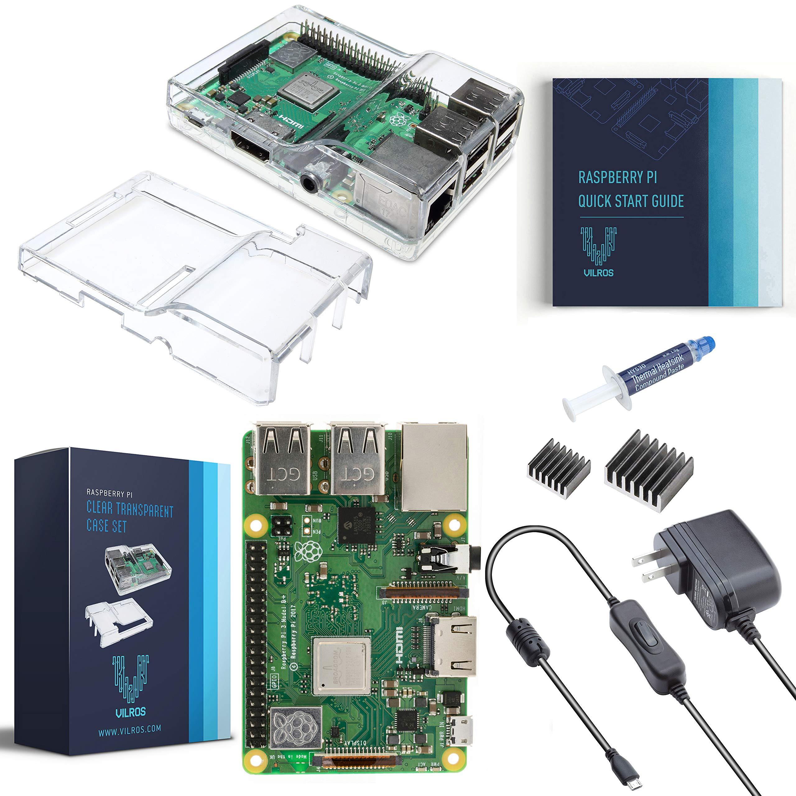 V-Kits Raspberry Pi 3 Model B+ (Plus) Basic Starter Kit [Latest Model 2018]