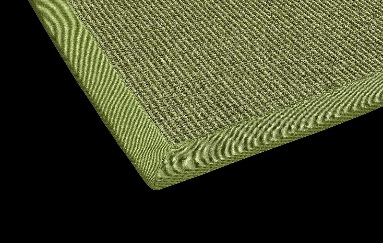 Sisal Küchen Teppich Mara auch fürs Esszimmer oder Flur geeignet DEKOWE (80 x 250 cm, 016 avocado grün)