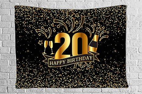 Amazon.com: DBLLF - Tapiz para fiesta de cumpleaños, color ...