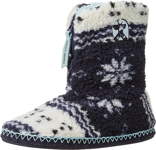 Fairisle Sherpa Fleece Slipper Boots