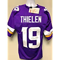 $119 » Adam Thielen Minnesota Vikings Signed Autograph Custom Jersey Purple JSA Certified