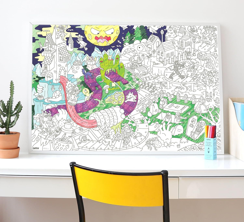Omy Poster Para Colorear Zombis Grande Xanas