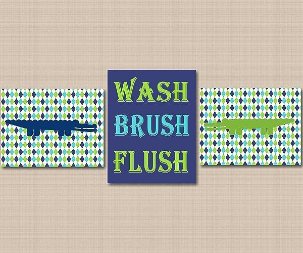 Good Alligator Bathroom Wall Art,Alligator Nursery Wall Art,Alligator Nursery  Art,Navy Blue