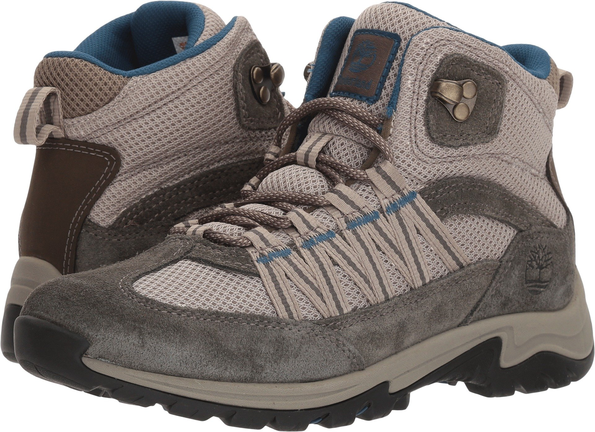 Timberland A1NOV Women's Mt. Maddsen Lite Mid Hiking Boots, Grey Full-Grain - 7.5 M