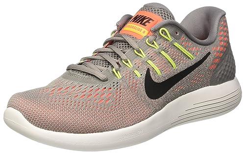 newest a6aa0 4dcec Nike Lunarglide 8 Dust Black Hyper Orange Electrolime Men s Running Shoes