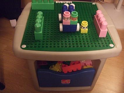Amazon.com: STEP 2 LEGO DUPLO MEGA BLOCK PLAY TABLE WITH STORAGE ...