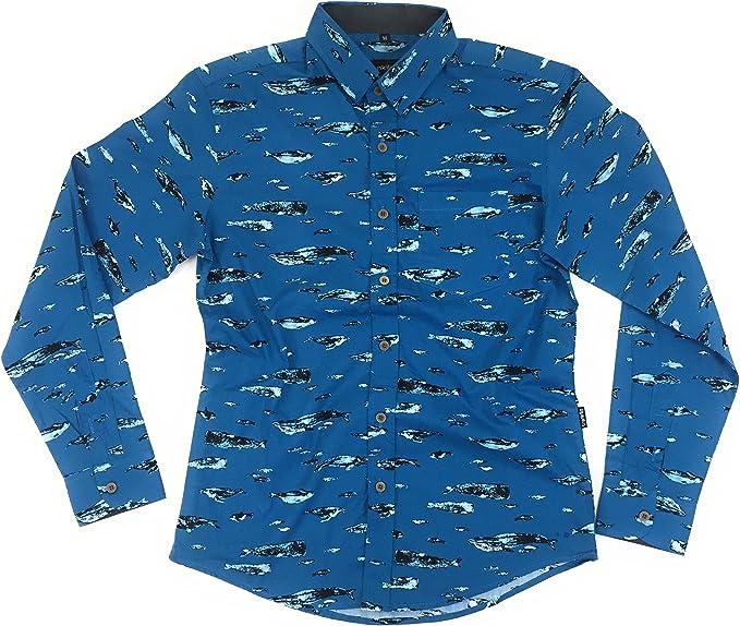 TRANKILO Camisa Manga Larga Ballenas. (M): Amazon.es: Ropa y accesorios
