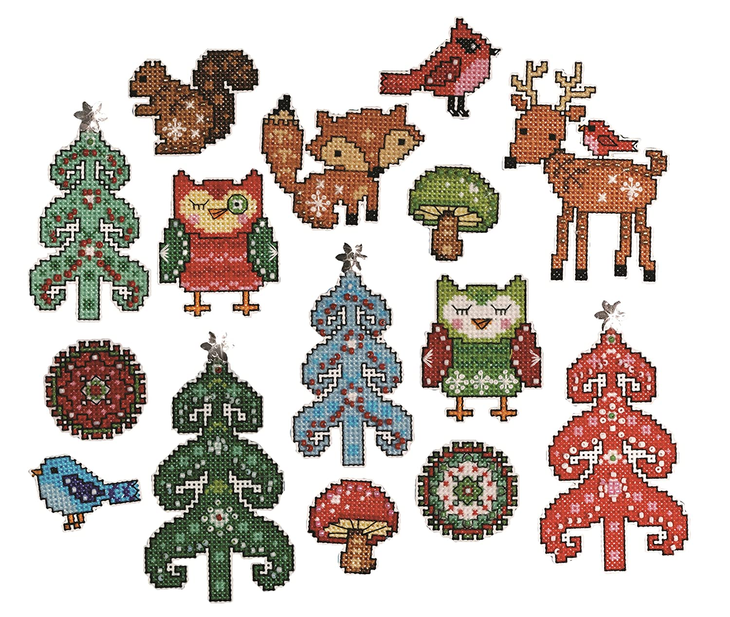 Tobin Woodland 14 Count Friends Ornament Plastic Canvas Kit