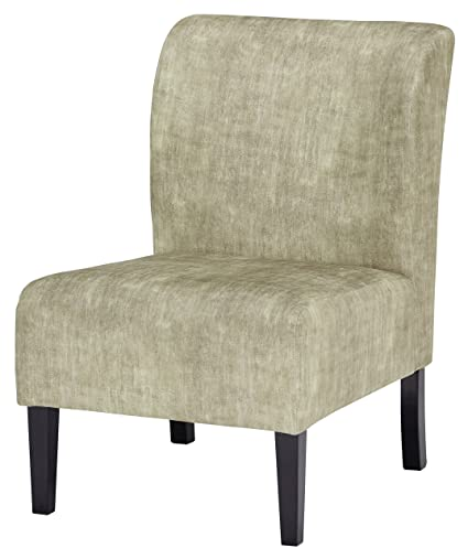 Ashley Furniture Signature Design   Triptis Accent Chair   Contemporary    Kiwi Green   Dark Brown