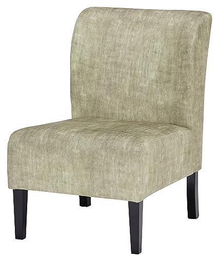 Ashley Furniture Signature Design   Triptis Accent Chair   Contemporary    Kiwi Green   Dark Brown