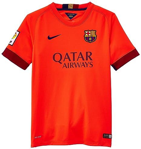 15fdffb6b Nike FC Barcelona Boys' Short Sleeve Away Stadium Jersey [BRIGHT CRIMSON/2-