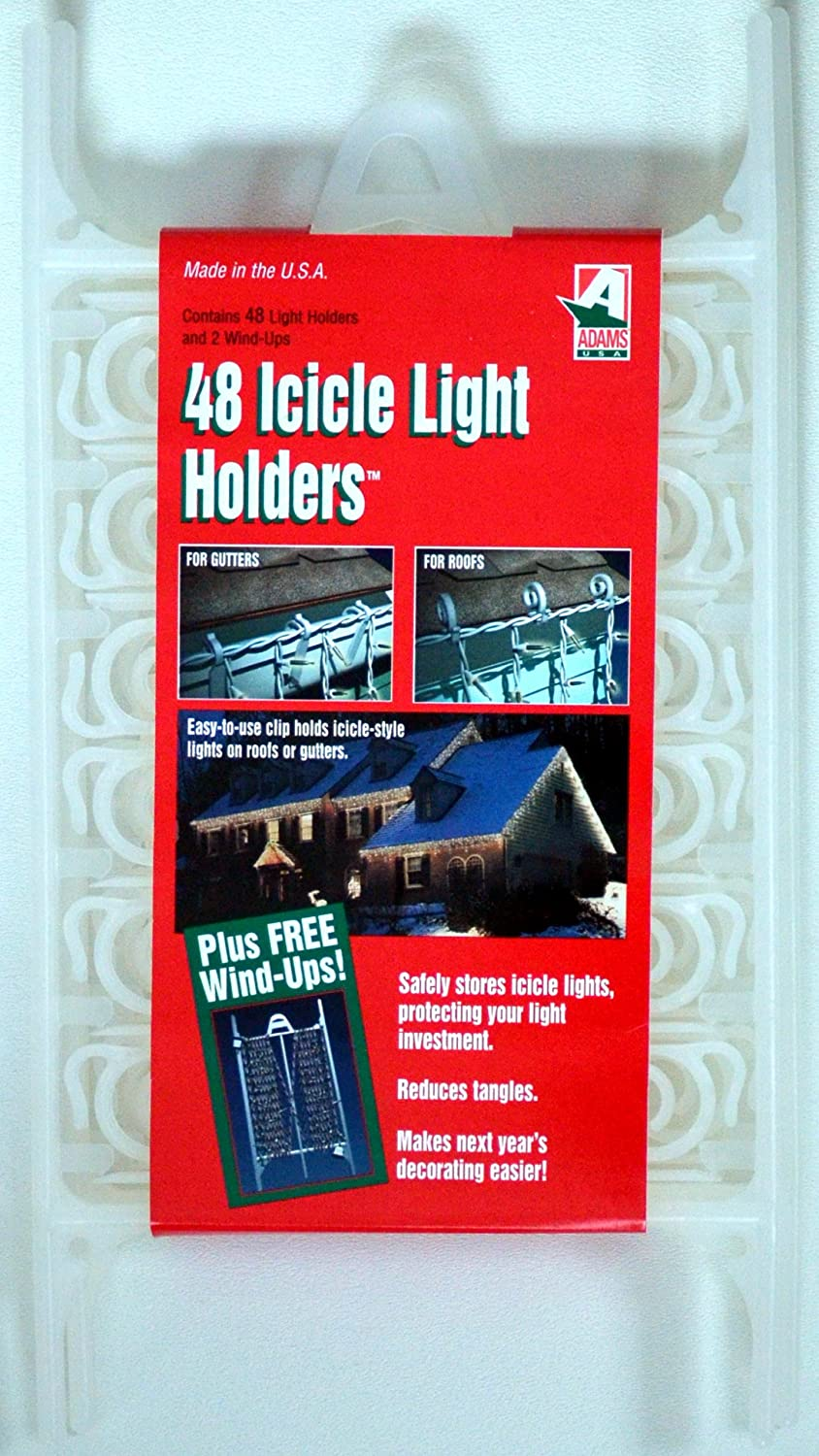 48 All-purpose Outdoor Light Holders with 2 Wind Ups for Light Strings