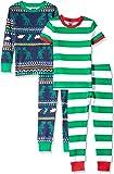 Amazon Brand - Spotted Zebra Boy's Snug-Fit Cotton Pajamas Sleepwear Sets