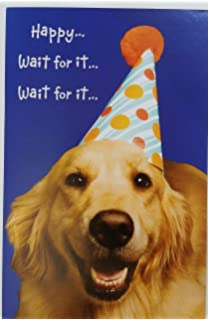 Amazon outrageous and hilarious 24 birthday cards with dog and birthday greeting card w golden bookmarktalkfo Gallery