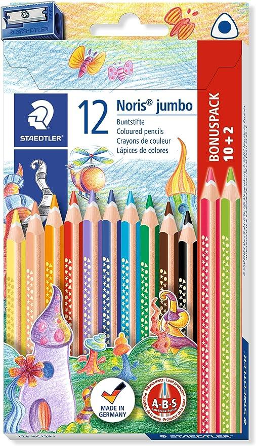 Staedtler Noris Club 128 NC12P1. Lápices de colores. Caja con 12 unidades y sacapuntas.: Amazon.es: Oficina y papelería