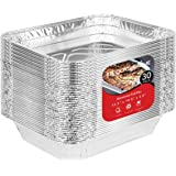 Aluminum Pans 9x13 Disposable Foil Pans (30 Pack) - Half Size Steam Table Deep Pans - Tin Foil Pans Great for Cooking, Heatin