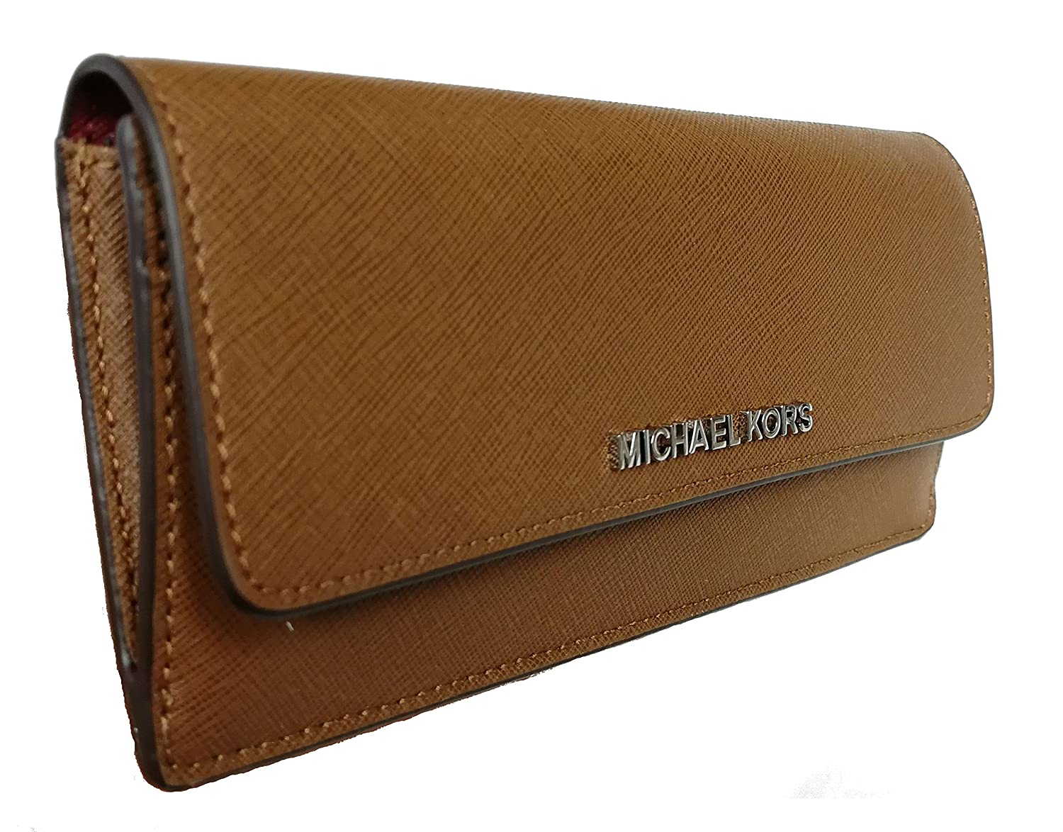 a51a1546142971 Michael Kors Jet Set Travel Flat Saffiano Leather Wallet Cinder/Ecru at  Amazon Men's Clothing store: