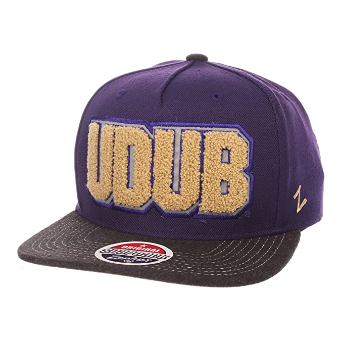 603c64cf ... reduced university of washington jock 5 panel udub snapback hat by zephyr  uw hat 162e3 ccc7a