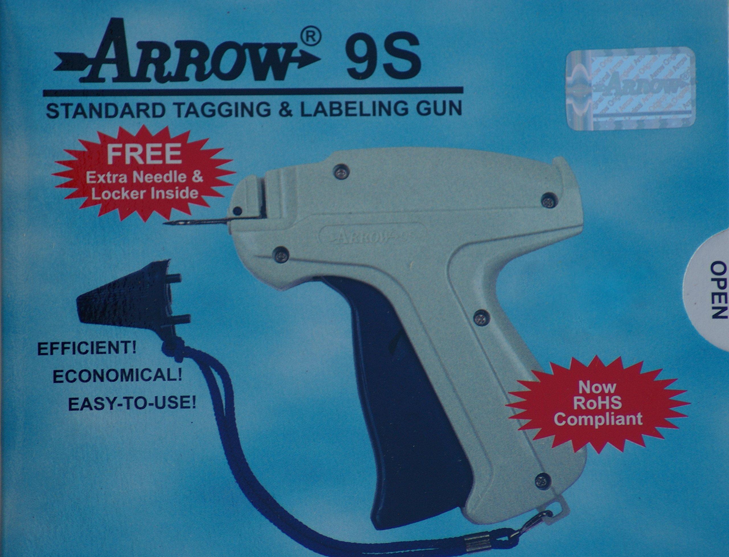 Arrow 9S Tag Gun + 1 Needle + 1000 Barbs Dennison Style Tagging Attacher Gun by Tag Gun Supplies by Golden India (Image #1)