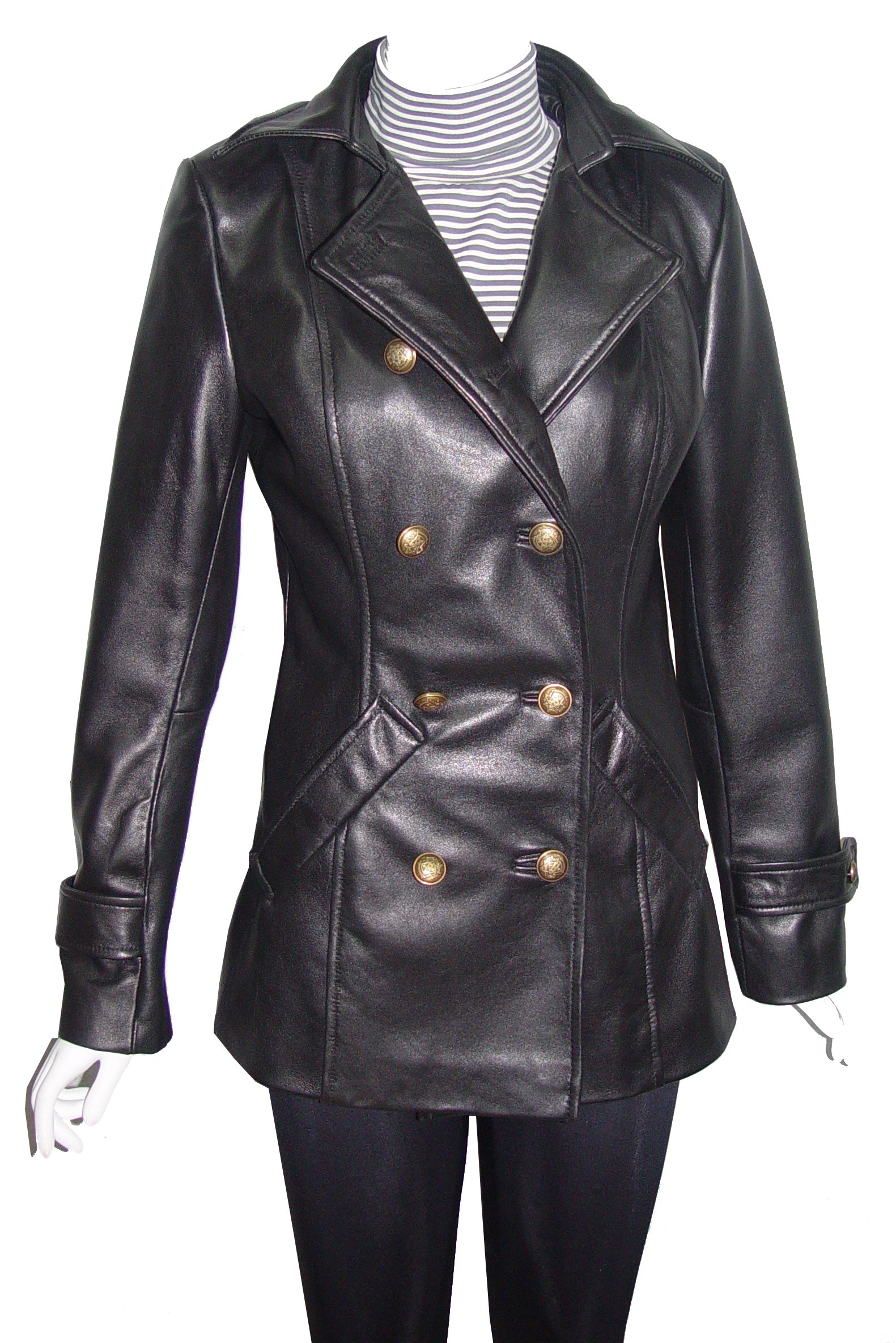 Nettailor 4100 Best Leather Pea Coats Ladies Business Clothing Real Lamb