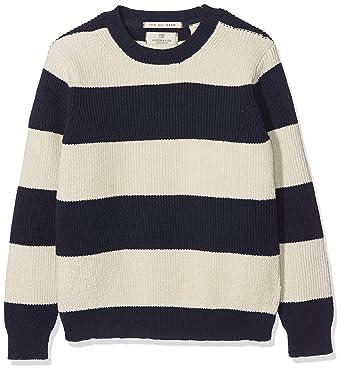 8836add9e Scotch & Soda Shrunk Striped Pullover, Pull Garçon, Multicolore (Combo B  218)