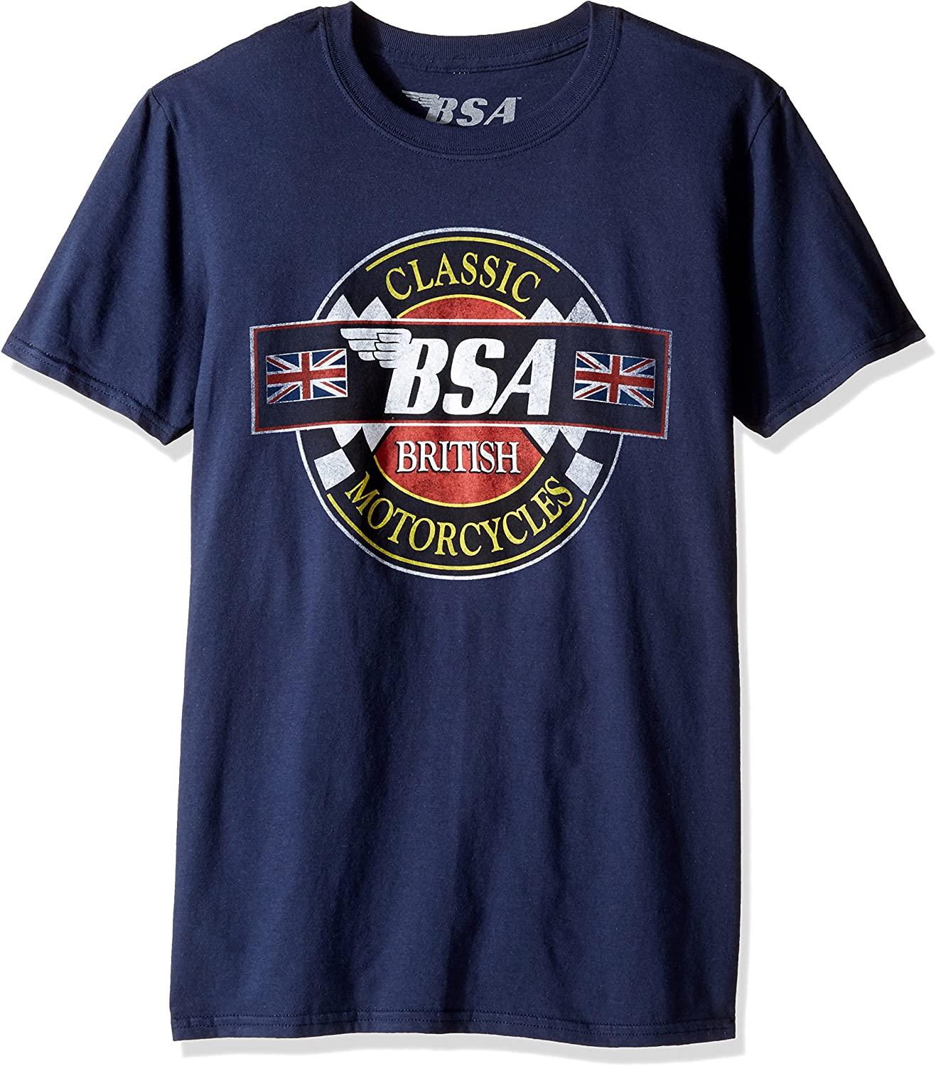 New BSA MOTORCYCLE Classic Logo Racing Men/'s White Black T-Shirt Size S to 3XL
