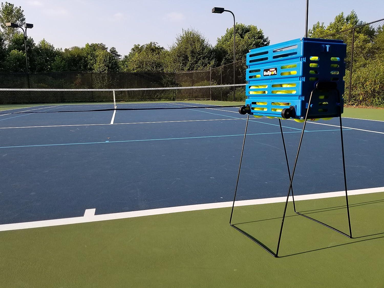 Tourna Ballport Deluxe Tennis Ball Hopper with Wheels Holds 80 Balls