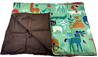 product image for Grampa's Garden Weighted Blanket 7 Pound Zoo Animals Made in USA